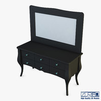 arron cosmetic dressing table 3D model