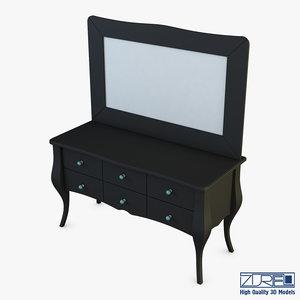 arron cosmetic dressing table 3D model