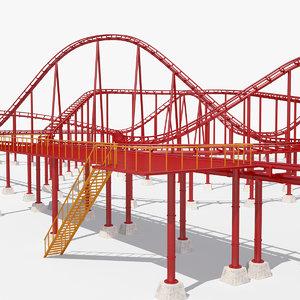 3D roller coaster track