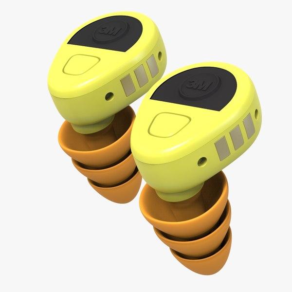 3m peltor ear protection 3D