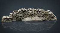 3D realistic stone wall