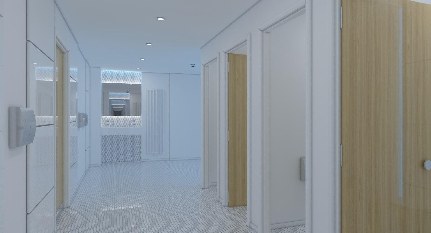3D model rest room