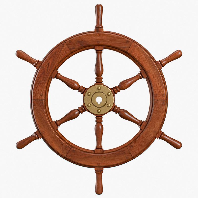 ship wheel model