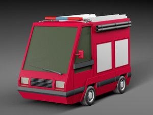 3D cartoon car