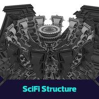 3D model sci-fi core tech