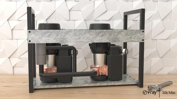 3D vaccum pump