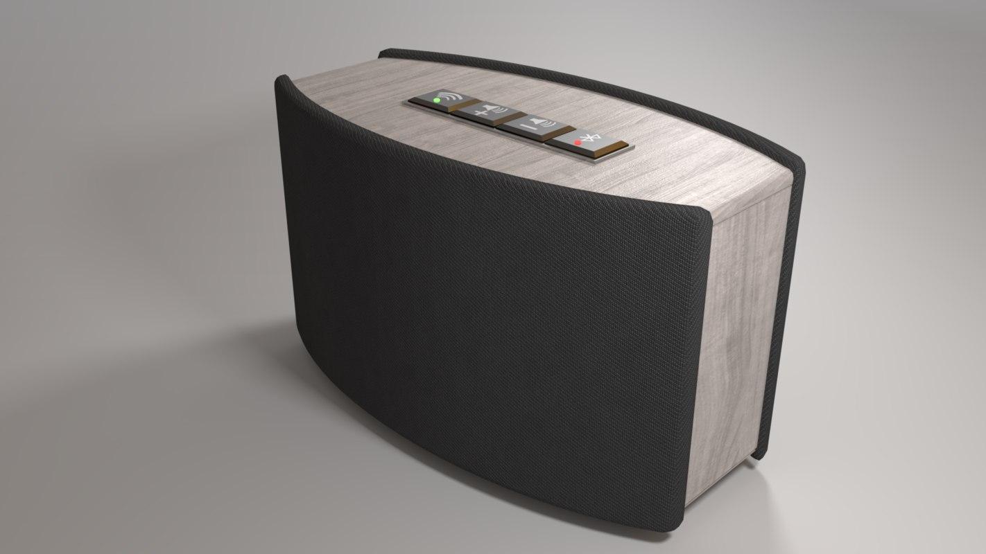 3D model bluetooth wifi speaker
