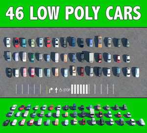 3D model 46 cars