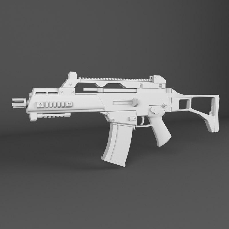 hkg36 weapon 3D model