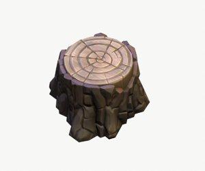3D cartoon stump
