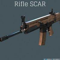 rifle modern 3D model