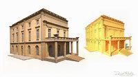 3D old buildings model