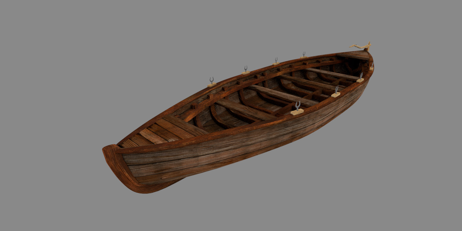 3D rowing boat