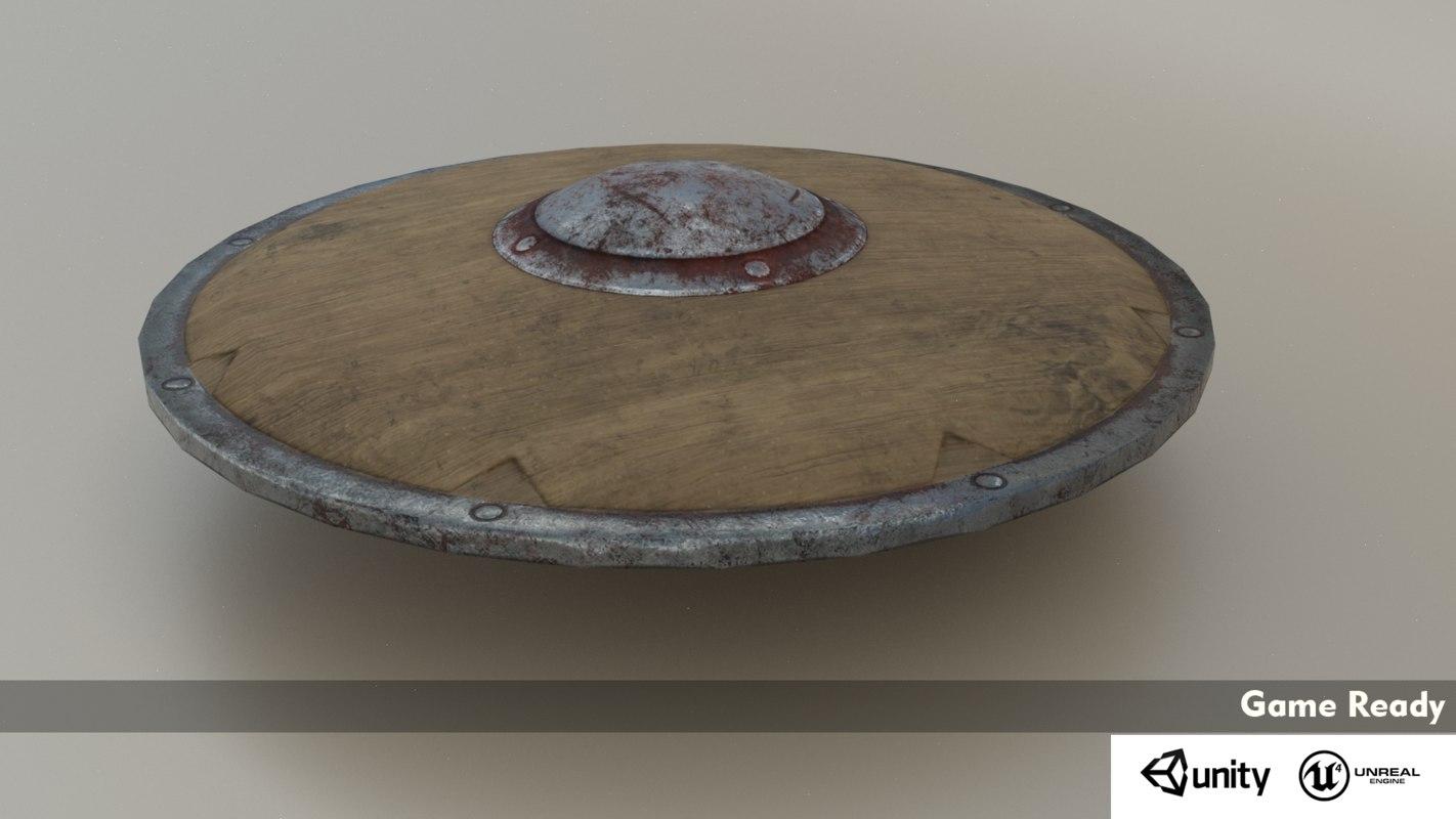 vr ar viking shield 3D
