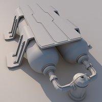 3D tank brace model