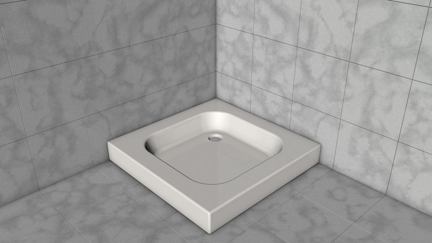 shower tray 3D model