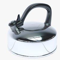 3D steel kettle model