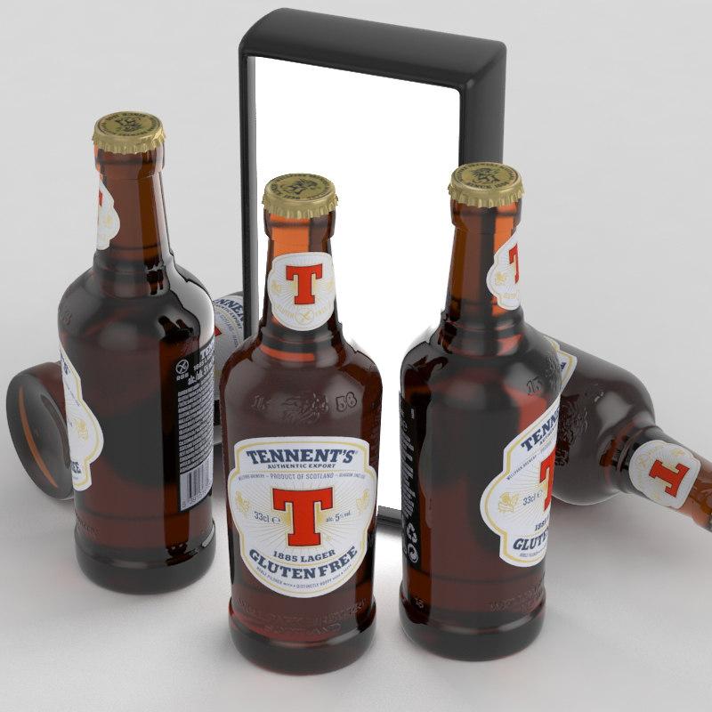 beer gluten 3D model