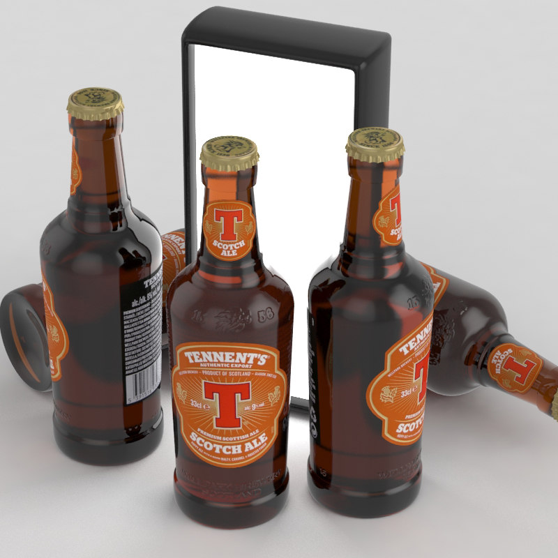 3D beer ale scotch