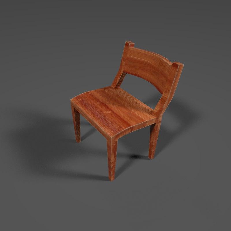 3D pbr chair model