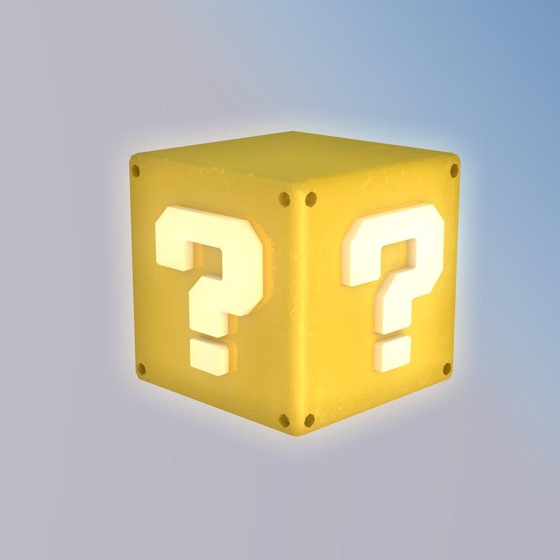 3D model mario question block
