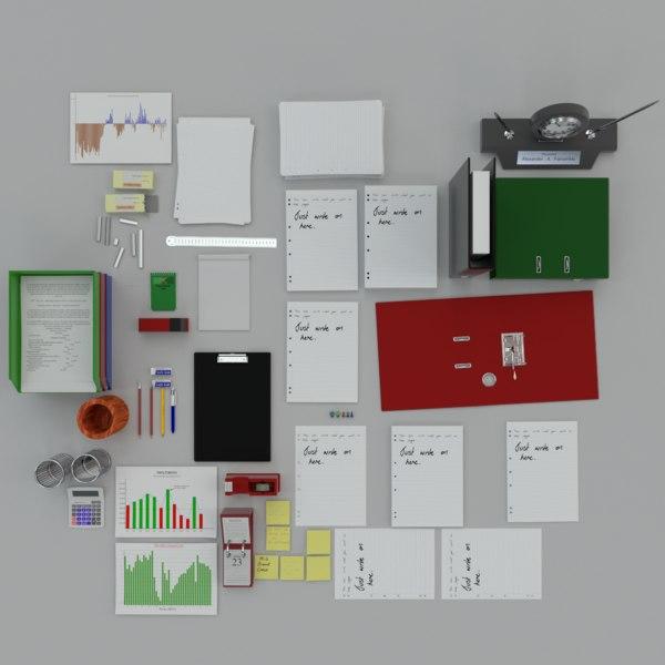office clutter 3D