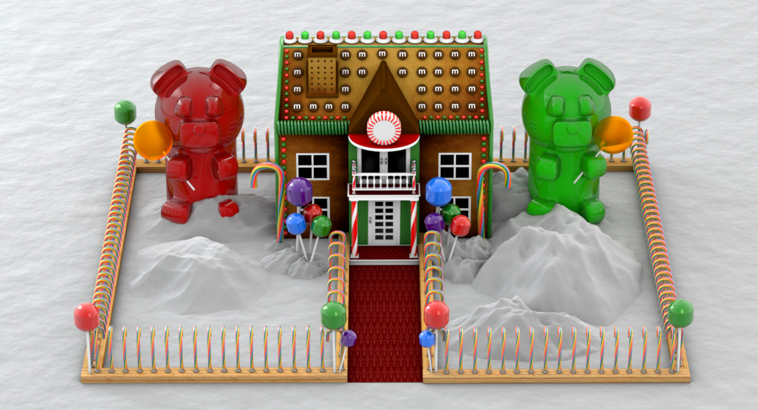 3D holidays gingerbread house