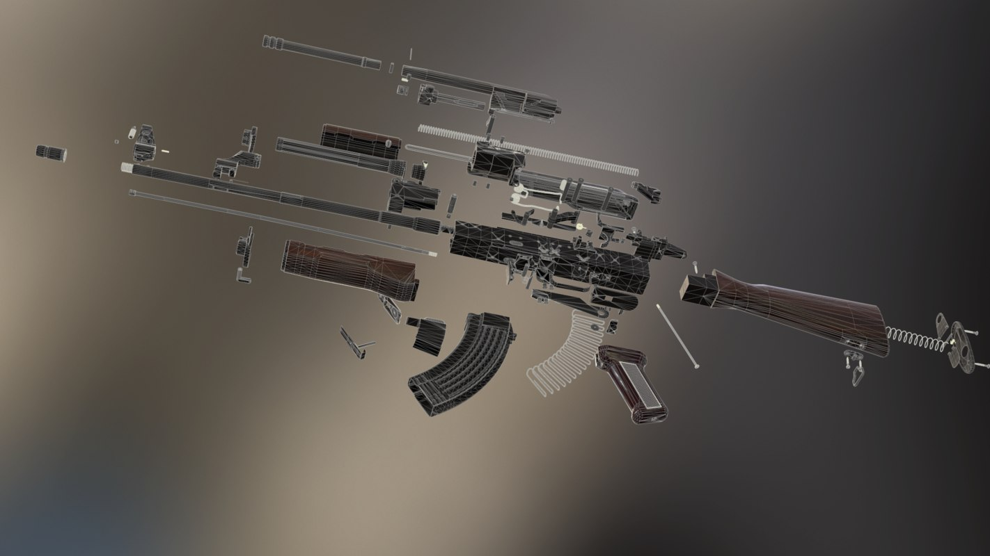 akm - kalashnikov rifle 3D model