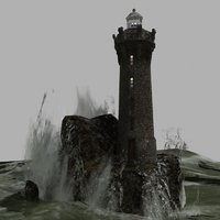 3D model lighthouse realtime