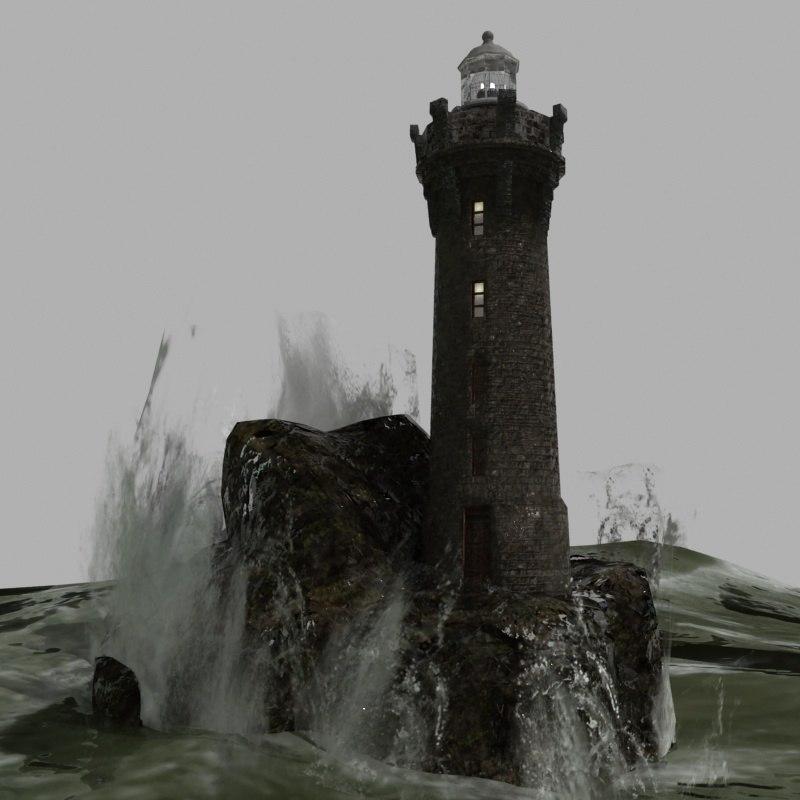 3D model lighthouse realtime