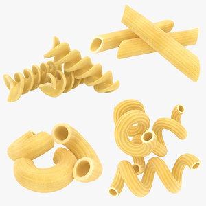 realistic dry pasta set 3D model