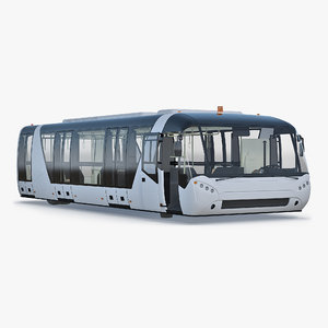 3D airside passenger bus rigged
