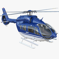 civil helicopter airbus h145 3D model