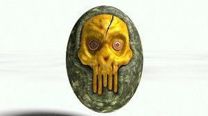 3D skull military