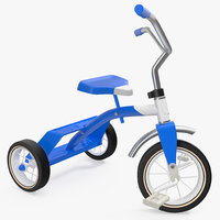 classic blue tricycle generic 3D model