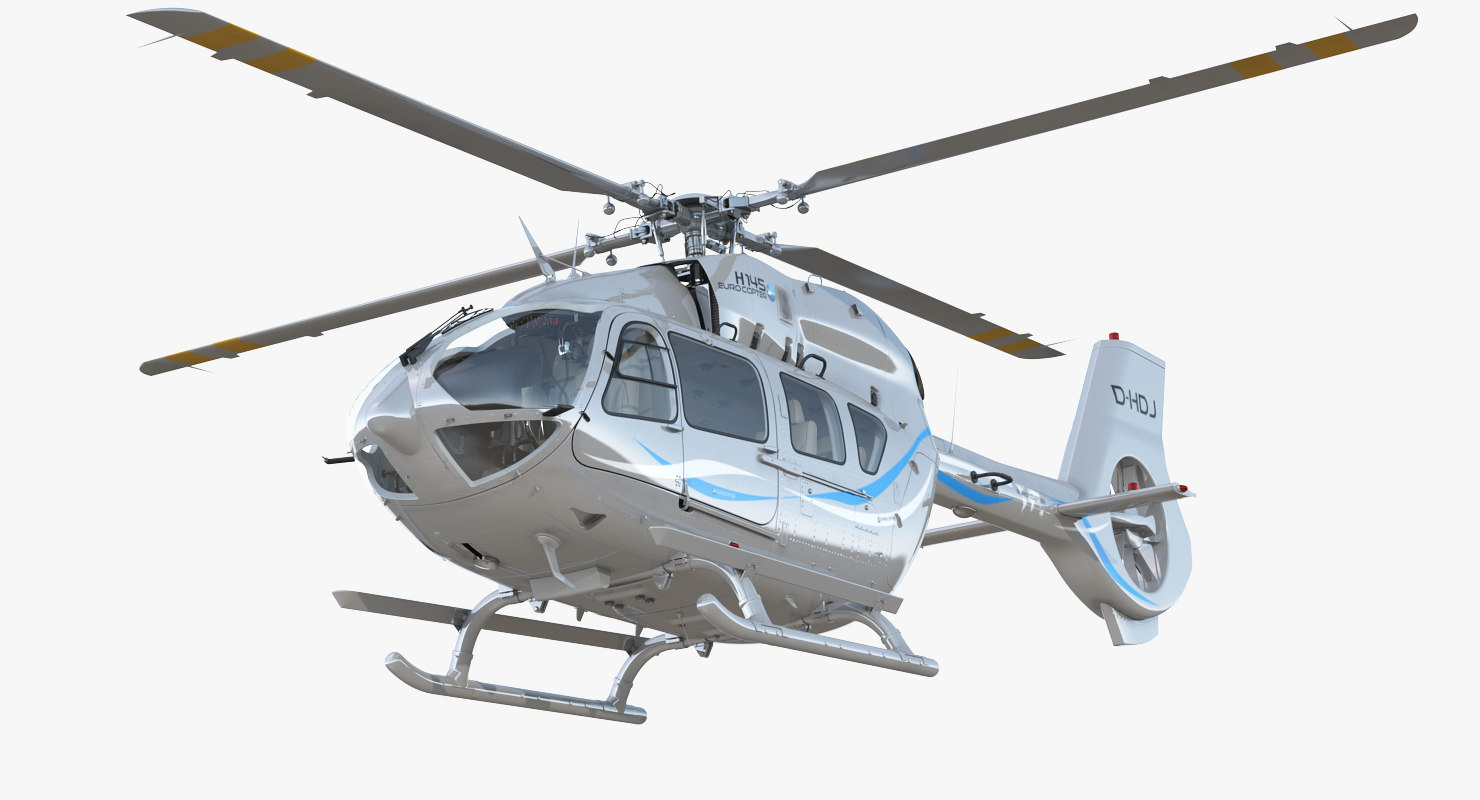 3D corporate transport helicopter airbus