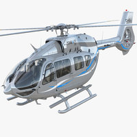 corporate transport helicopter airbus 3D