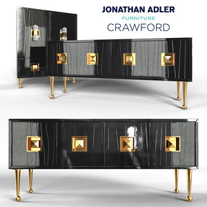 crawford console cabinet jonathan 3D
