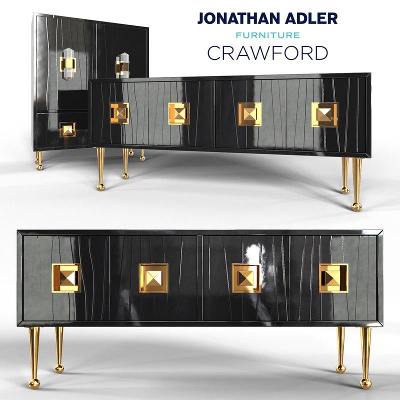 Crawford Console Cabinet Jonathan 3d Turbosquid 1212110