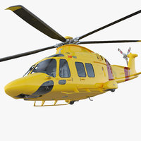 Helicopter AgustaWestland AW169 Rigged