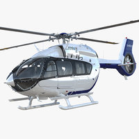 light utility helicopter eurocopter 3D model