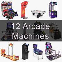 12 arcade machines model