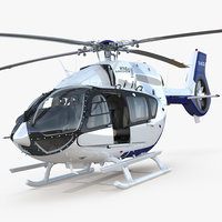 Light Utility Helicopter Eurocopter EC145 T2 Rigged