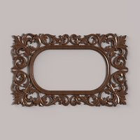 carved frame cnc 3D model