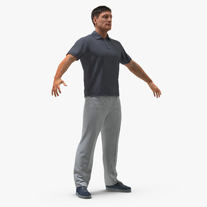 man casual style fur 3D model