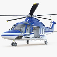 Multirole Helicopter AgustaWestland AW169 Rigged