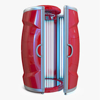 3D vertical solarium tanning bed model