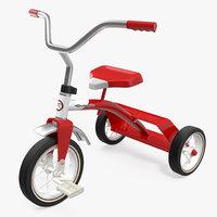 3D vintage red trike