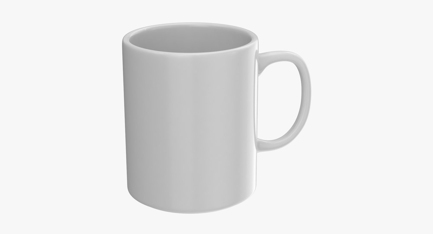 3D model promotional coffee mug mockup