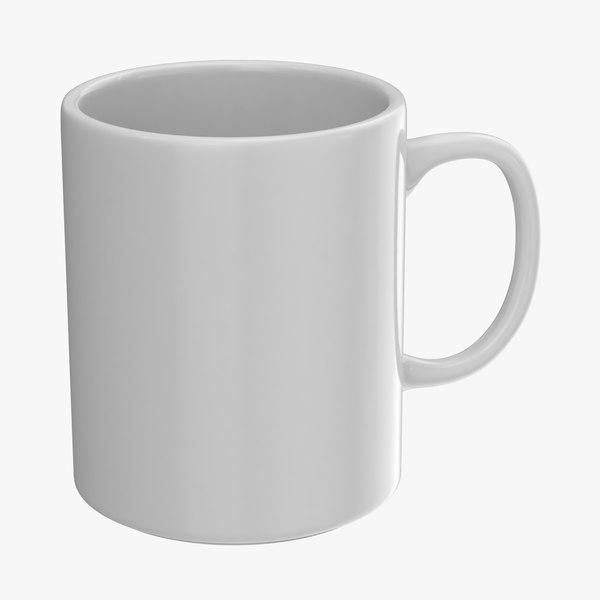 3D model promotional coffee mug mockup
